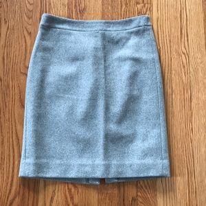 0 J. Crew grey pencil skirt